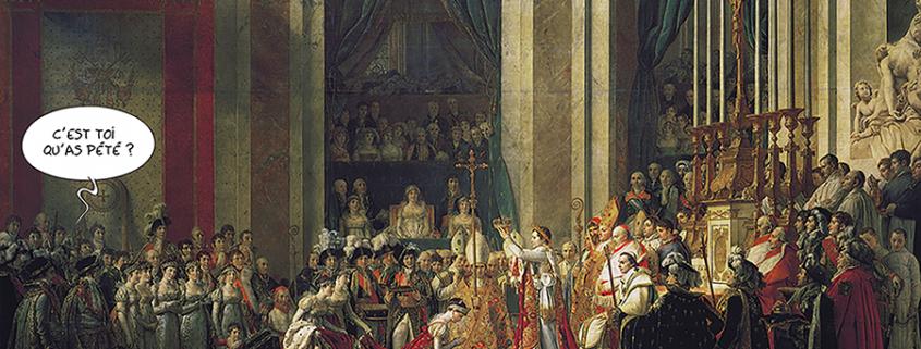 """Tableau de Jacques-Louis David """"le sacre de Napoléon""""."""