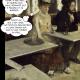 """Dans un café (L'absinthe), huile sur toile de Edgar Degas. Dans un café, un homme chevelu et barbu, avec un chapeau, le nez rougi, est attablé en train de fumer sa pipe. À la table voisine, une femme pensive à l'expression un peu inquiète pense """"Ne pas attirer son attention... Faire comme si que rien... Attendre qu'il aille vidanger ses 3 ricards et se barrer... Qu'est-ce que c'est naze ces sites de rencontres... Tu sais jamais sur quoi tu vas tomber en vrai..."""""""